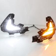 Дневные ходовые огни Хендай Соната 8 (DN8) 2020-2022 V4 Type [Комплект Л+П; светодиодные; + поворотник]