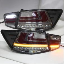 Задние фонари Киа Церато 2009-2013 V6 type ДЫМЧАТЫЕ [Комплект Л+П; светодиодные; бегущий поворотник]