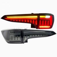 Задние фонари Тойота Фортунер 2017-2020 V6 type ДЫМЧАТЫЕ [Комплект Л+П; светодиодные; бегущий поворотник]
