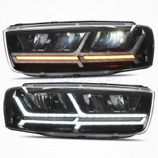 Передние фары Шевроле Каптива 2011-2015 V2 type [Комплект Л+П; ходовые огни; FULL LED; электрокорректор; светодиодный поворотник]