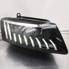 Передние фары Ауди Q5 2009-2018 V3 type [Комплект Л+П; FULL LED; электрокорректор; яркие ходовые огни; динамичный поворотник]