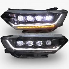 Передние фары Пассат Б8 2016-2020 V6 Type [Комплект Л+П; яркие светодиодные ходовые огни; светодиодный поворотник; электрокорректор; FULL LED]
