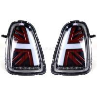 Задние фонари Мини Купер R56 Union Jack 2007-2013 V8 type БЕЛО-КРАСНЫЕ [Комплект Л+П; Светодиодные]
