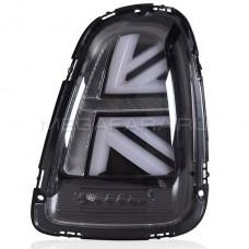 Задние фонари Мини Купер R56 Union Jack 2007-2013 V2 type ДЫМЧАТЫЕ [Комплект Л+П; Светодиодные]