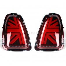 Задние фонари Мини Купер R56 Union Jack 2007-2013 V5 type КРАСНЫЕ [Комплект Л+П; Светодиодные]