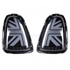 Задние фонари Мини Купер R56 Union Jack 2007-2013 V6 type ДЫМЧАТЫЕ [Комплект Л+П; Светодиодные]