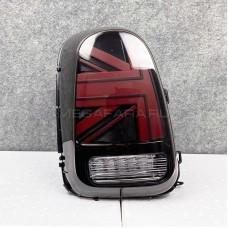 Задние фонари Мини Купер Кантримен F60 Union Jack 2010-2020 V2 type ТЕМНО-КРАСНЫЕ [Комплект Л+П; Светодиодные]