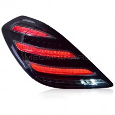 Задние фонари Мерседес S-class W222 2014-2020 V2 Type ТЕМНЫЕ [Комплект Л+П; Светодиодные; Динамичный поворотник]