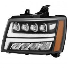 Передние фары Шевроле Тахо 2007-2013 V5 type [Комплект Л+П; яркие ходовые огни; светодиодный поворотник; FULL LED]