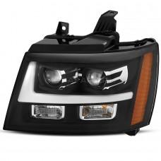 Передние фары Шевроле Тахо 2007-2013 V7 type [Комплект Л+П; яркие ходовые огни; LED лизны]