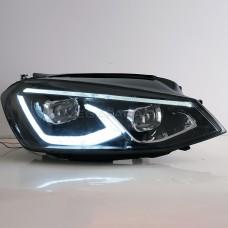 Передние фары Гольф 7 V14 type [Комплект Л+П; яркие ходовые огни; электрокорректор; FULL LED]
