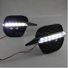 Дневные ходовые огни БМВ Х5 Е70 2011-2013 V2 type [Комплект Л+П; светодиодные]