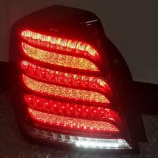 Задние фонари Шевроле Лачетти Седан  2003-2021 V4 type Темно-КРАСНЫЕ Maybach style [Комплект Л+П; Светодиодные; Динамичный поворотник]