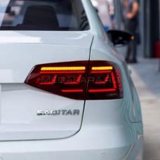 Задние фонари Джетта 6 2014-2018 V10 type [Комплект Л+П; полностью светодиодные; динамичный поворотник]