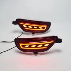 Светодиодные вставки в задний бампер Мазда СХ-5 2018-2021 V15 Type