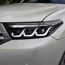 Передние фары Тойота Хайлендер 2011-2013 V27 type [Комплект Л+П; FULL LED; электрокорректор; яркие ходовые огни]