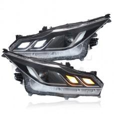 Передние светодиодные фары Тойота Королла Е210 2019-2021 V2 type [Комплект Л+П; ходовые огни; электрокорректор; FULL LED]