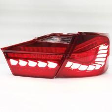 Задние фонари Тойота Камри V50 2011-2014 V3 type КРАСНЫЕ [Комплект Л+П; Светодиодные; Динамичный LED поворотник]