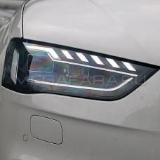 Передние фары Ауди А4 B8 2012-2015 V4 type [Комплект Л+П; FULL LED; автокорректор; яркие ходовые огни;]