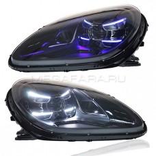 Передние фары Порше Макан 2014-2020 V1 type [Комплект Л+П; ходовые огни; FULL LED]