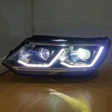 Передние фары VW Тигуан 2013-2015 V8 type [Комплект Л+П; ДХО; FULL LED; электрокорректор; динамичный поворотник]