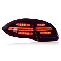 Задние фонари Порше Кайен 958 2010 - 2014 V1 type [Комплект Л+П; Светодиодные; Динамичный поворотник]