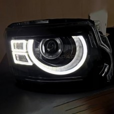 Передние фары Land Rover Discovery 4 2010-2017 V2 type [Комплект Л+П; ходовые огни; электрокорректор; FULL LED]