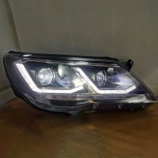 Передние фары VW Тигуан 2010-2012 V6 type [Комплект Л+П; ДХО; FULL LED; электрокорректор; динамичный поворотник]