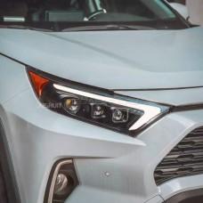 Передние фары Тойота Рав 4 2020-2022 V6 type [Комплект Л+П; электрокорректор; яркие ходовые огни; FULL LED]