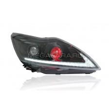 Передние фары Форд Фокус 2 2009-2011 V11 type [Комплект Л+П; ходовые огни; биксеноновая линза; светодиодный поворотник]