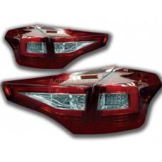Задние фонари Тойота РАВ 4 2013-2015 V2 type [Комплект Л+П; Светодиодные; светодиодный поворотник; ТЕМНО КРАСНЫЕ]