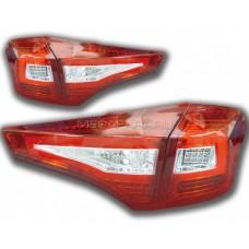 Задние фонари Тойота РАВ 4 2013-2015 V1 type [Комплект Л+П; Светодиодные; светодиодный поворотник; КРАСНЫЕ]