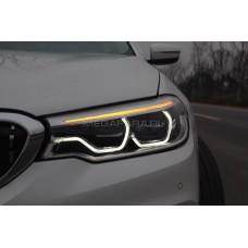 Передние фары БМВ 5 серии G30/G31 2017-2019 V2 type [Комплект Л+П; Полностью светодиодные]