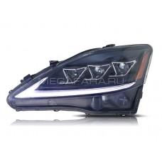 Передние фары Лексус is 250 is 350 2006-2012 V1 type [Комплект Л+П; полностью светодиодные; динамичный поворотник; электрокорректор]