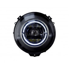 Передние фары Мерседес Гелендваген G class W463 2007-2018 V3 type ЧЕРНЫЕ [Комплект Л+П; светодиодные  ходовые огни; би LED линза; электрокорректор]