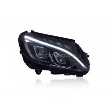 Передние светодиодные фары Мерседес C-class W205 2015-2018 V1 type [Комплект Л+П; ходовые огни; FULL LED]
