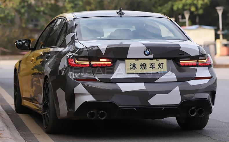 Задние фонари БМВ 3 серии G20 2020-2022 V10 type [Комплект Л+П; Светодиодные; Динамичный поворотник]