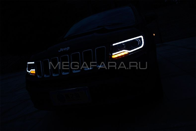 Передние фары Джип Компас 2011-2015 V1 type