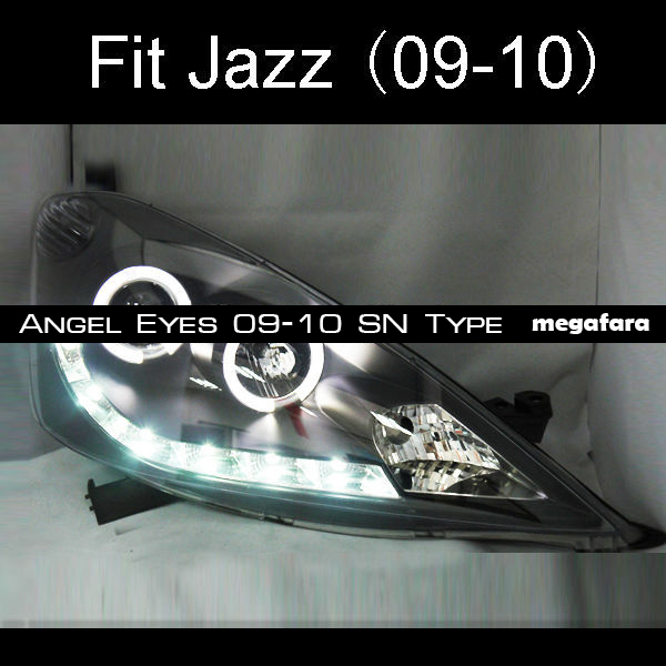 Передние фары Honda Fit Jazz Angel Eyes 2009-2010 SN Type