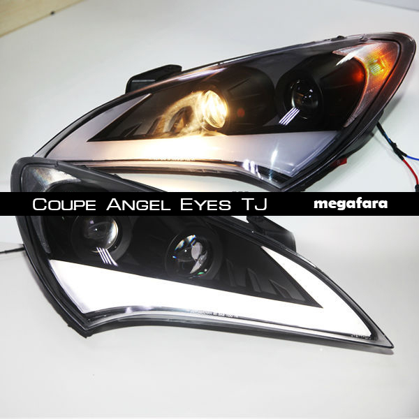 Передние фары Hyundai ROHENS Coupe Angel Eyes TJ
