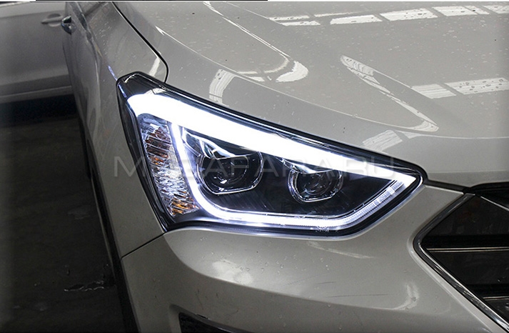 Передние биксеноновые фары Хендай Санта Фе 2013-2015 V4 Type