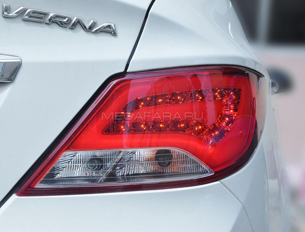 Задние фонари Хендай Солярис 2014-2017 V11 Type [Комплект Л+П; светодиодные]