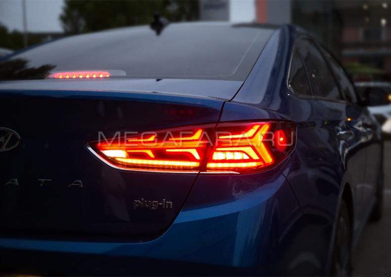 Задние фонари Хендай Соната LF 2017-2020 V11 type [Комплект Л+П; полностью светодиодные]
