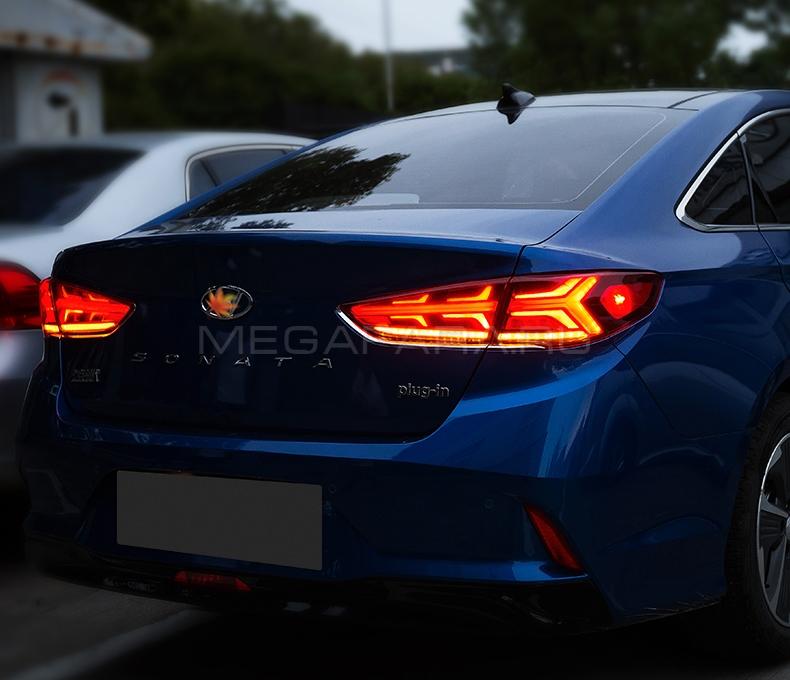 Задние фонари Хендай Соната LF 2017-2020 V12 type ДЫМЧАТЫЕ [Комплект Л+П; полностью светодиодные]