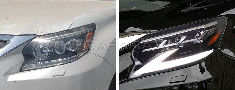 Передние светодиодные фары Lexus GX460 2014-2019 V1 type [Комплект Л+П; яркие ходовые огни; светодиодный поворотник; FULL LED]