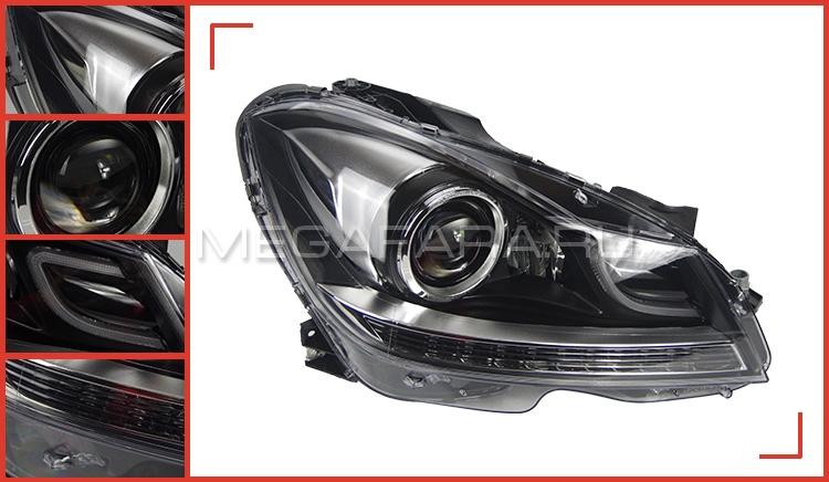Передние фары Мерседес C-class W204 2012-2015