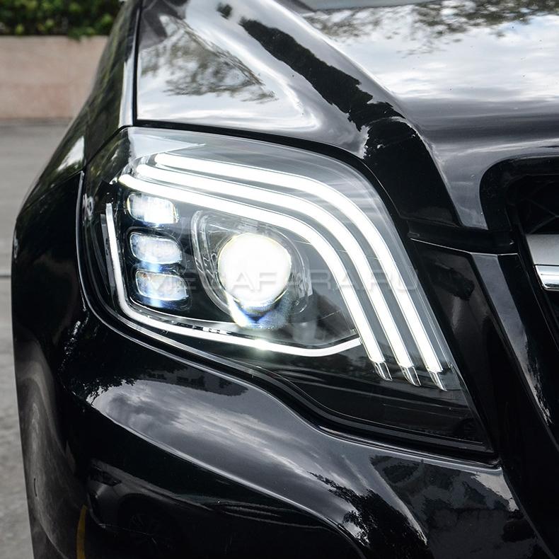 Передние фары Мерседес GLK 260 GLK 300 2012-2015 V4 type [Комплект Л+П; ходовые огни; электрокорректор; FULL LED]