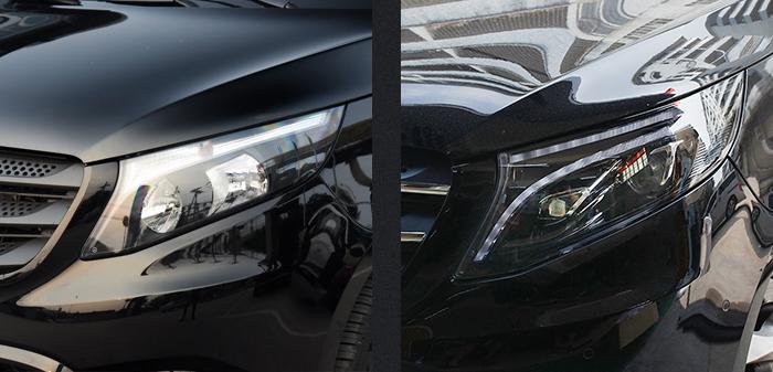 Передние фары Мерседес V-class W447 (VITO) FULL LED V4 type [Комплект Л+П; Полностью светодиодные; под рестайлинг EQV]