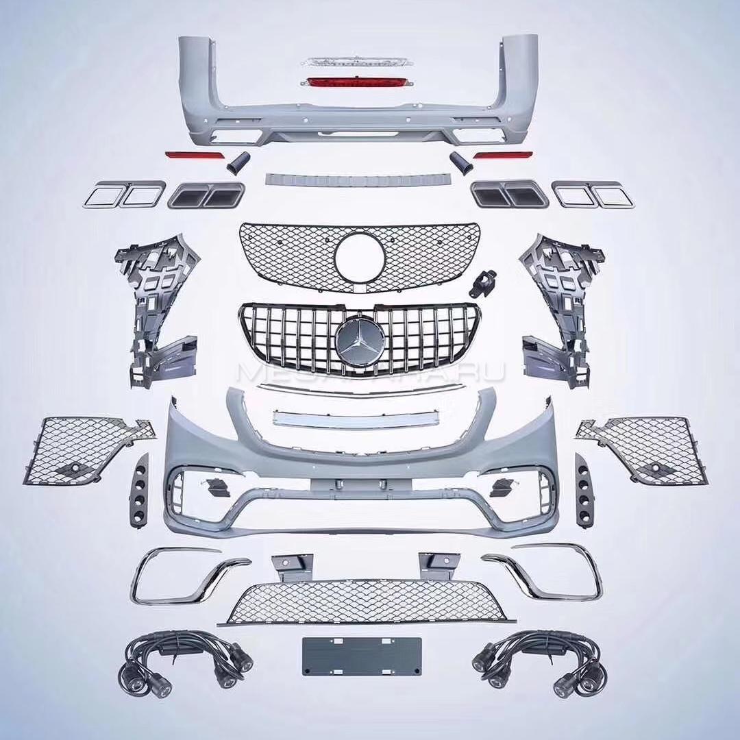 Аэродинамический обвес Мерседес Бенц Вито W447 V class AMG style 2014 - 2020 V1 type