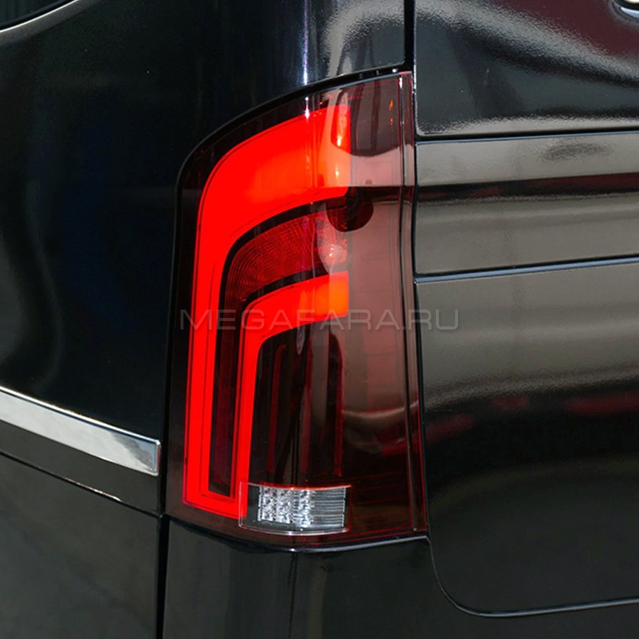 Задние фонари Мерседес Вито W447 2015-2019 V4 Type [КРАСНЫЕ; Комплект Л+П; Светодиодные; Динамичный поворотник]